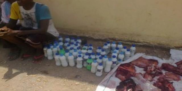 Don de viandes et de lait aux réfugiés yéménites d'Obock
